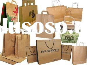 Promotional customized kraft paper bag for shopping