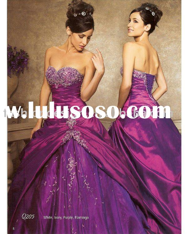 QB030 2012 elegant purple beaded prom party dresses Quinceanera Ball gowns