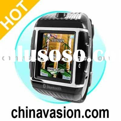 Quad Band Cell Phone Watch - Water Resistant