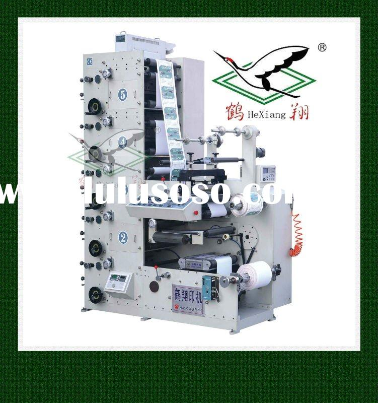 RY320-4C Flexographic Printing Machine with rotary die cutting/Label printing machine with rotary sl