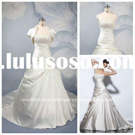 Real Sample Ball Gown Wedding Dress With Jacket 2011