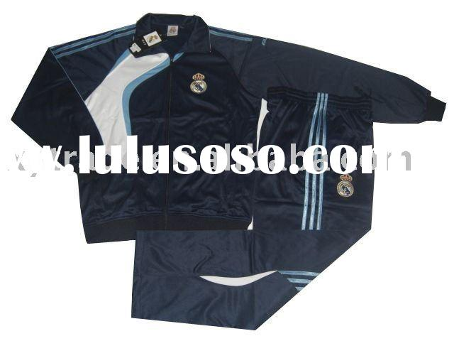 Real madrid soccer jersey and men's polyester tracksuit