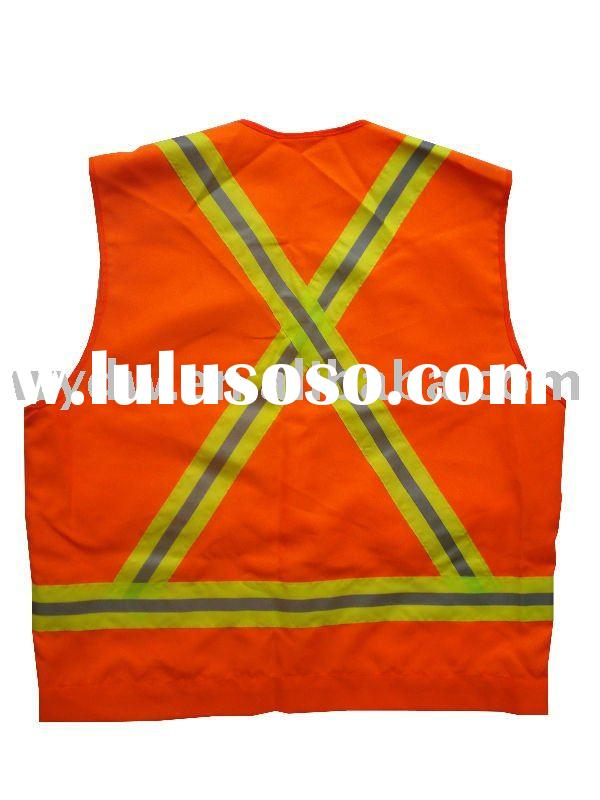 Reflective vest,Safety vest,Hi-visibility safety vest,reflective safety vest with X on back