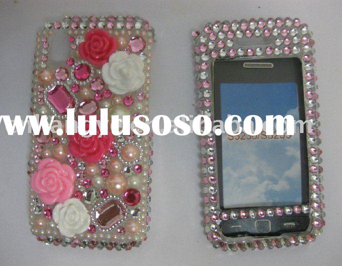 Rhinestone/Bling Diamond Faceplate/Case Cover For Samsung Tocco lite S5230 5233 (Accept paypal)