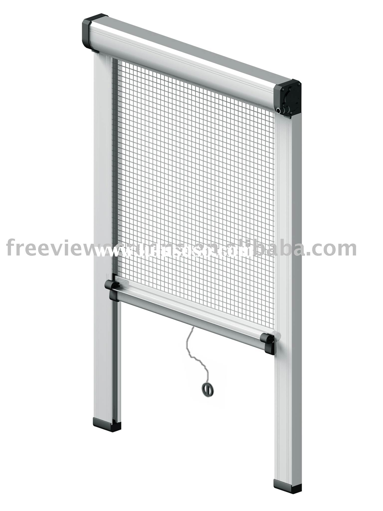 Roller insect screen window