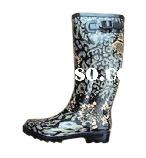 Rubber Printed Hunter Boots