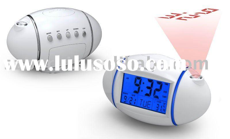 Rugby shaped projection alarm clock