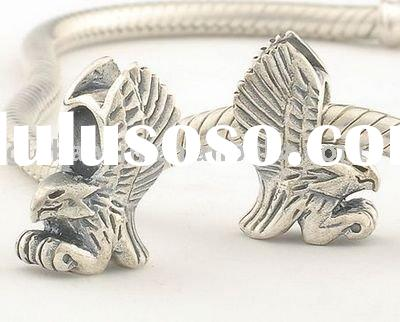 S925 sterling silver eagle-shaped antique beads