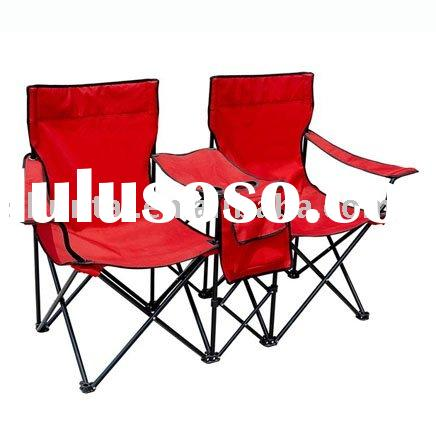 STEEL FOLDING DOUBLE SEAT CAMPING CHAIR with table
