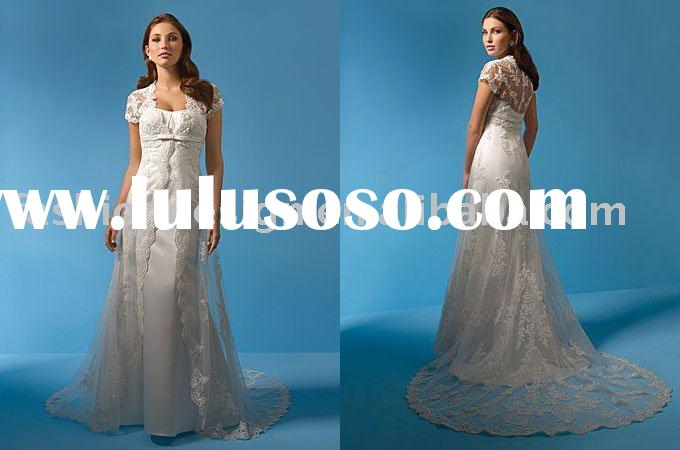 SWD1851 Latest style strapless with short lace coat wedding dresses