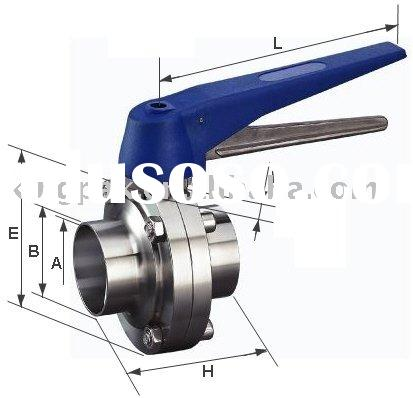 Sanitary Butterfly Valve Long Welding (pipe fitting)