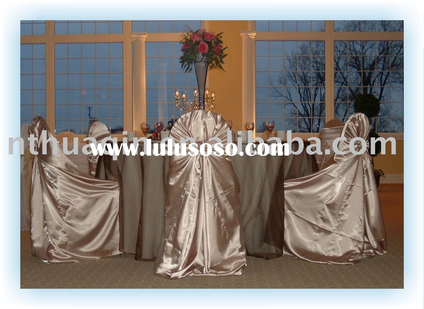 Satin chair cover& satin sashes, wedding chair covers, banquet chair cover, hotel chair covers