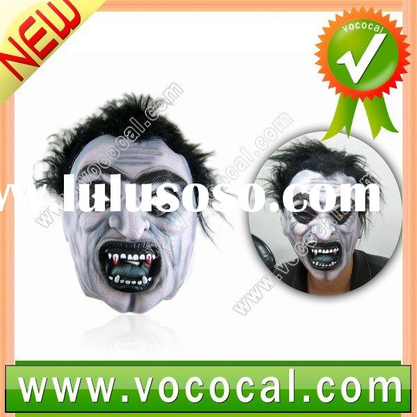 Scare Ghost Demon Monster Silicone Mask +Hair Halloween