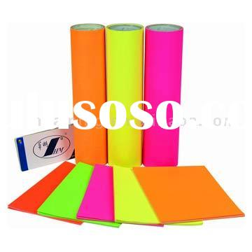 Self Adhesive Fluorescent Paper with release paper