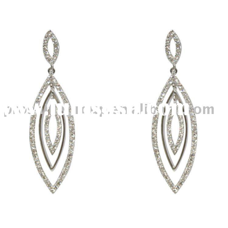 Silver 925 earring / 925 silver CZ earring / 925 silver jewelry / Fashion jewelry / precious Jewelry