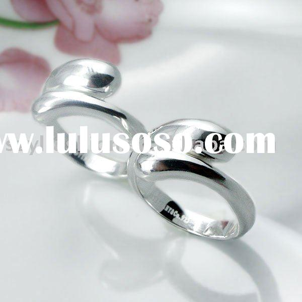 Silver Jewellery Rings Couple Rings in Water Drop Shape Made of 925 Sterling Silver Plated LE020