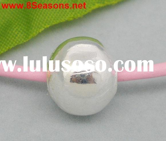 Silver Plated Smooth Ball Spacers Beads 12mm Findings