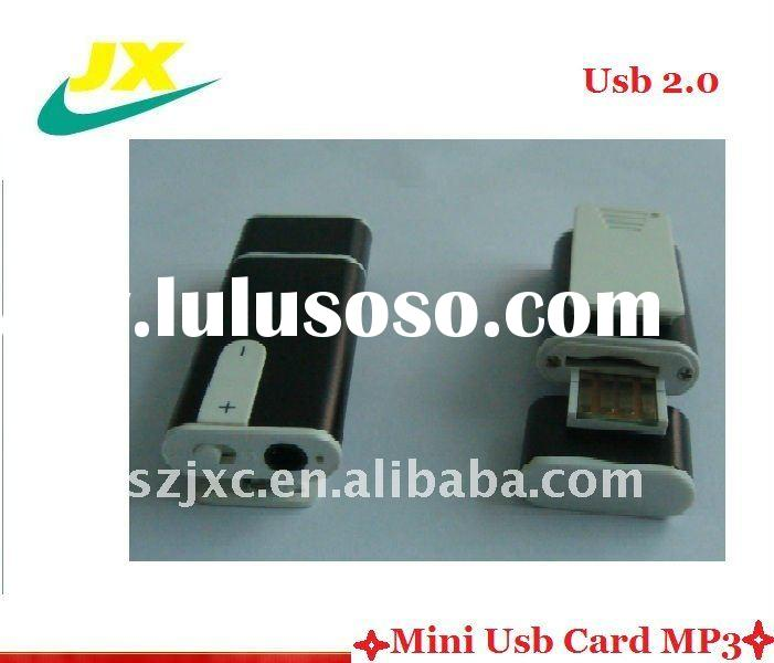 Slim and hot sell mini sd card mp3 Player&usb mp3