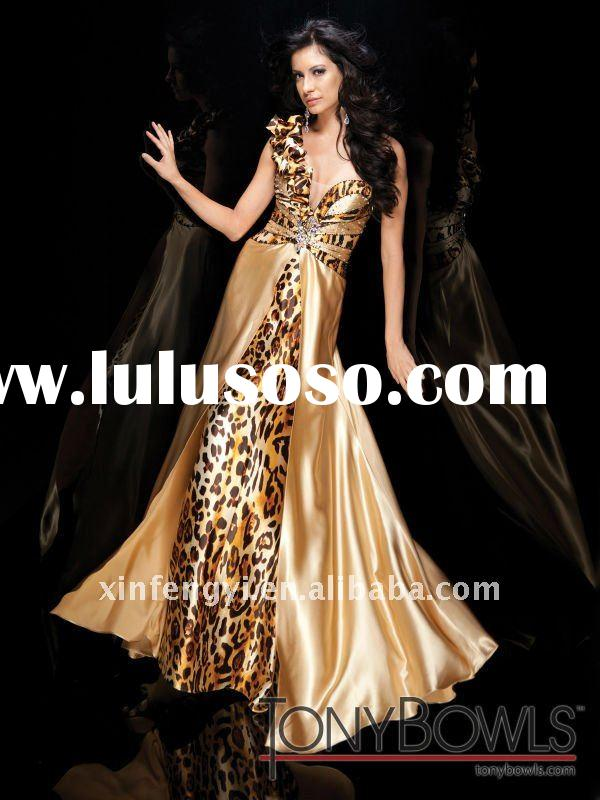 Spaghetti one strap fashion ladies long evening prom dresses discounted cheap price