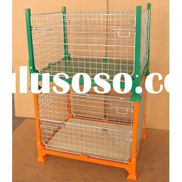 Stackable Folding Mesh Container Storage Baskets Steel Mesh Cages