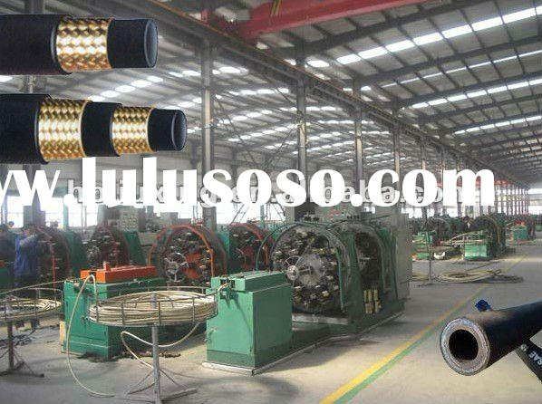 Steel wire braided rubber hydraulic hose