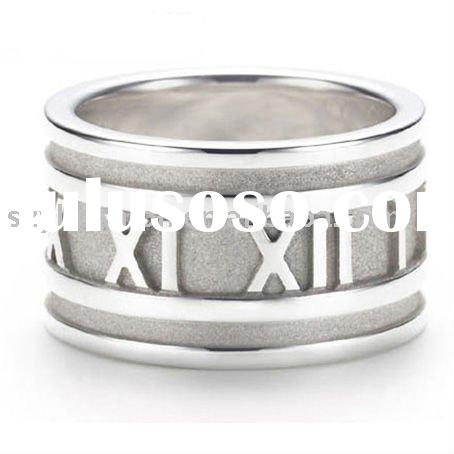 Roman Numeral Wedding Ring Rings Wide Roman Numerals