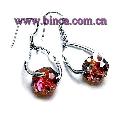 Sterling silver jewellery, 925 silver jewellery, Silver earrings with crystal