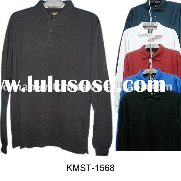 Stock sports t-shirts/closeout male t-shirt/stock men's long sleeve t-shirt/fashion overstoc