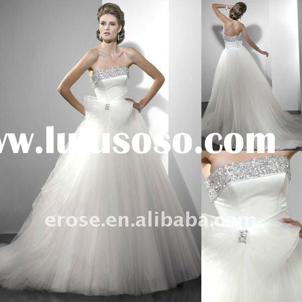 Strapless Organza Wedding Dress With Bow MG-S013