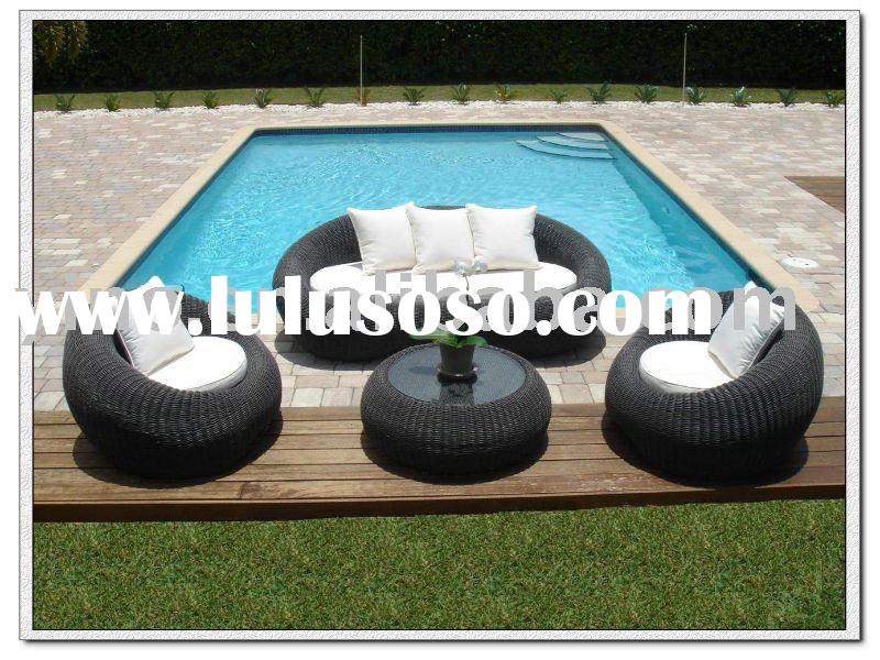 Stylish Rattan furniture round wicker sofa set outdoor furniture garden furniture RZ1036