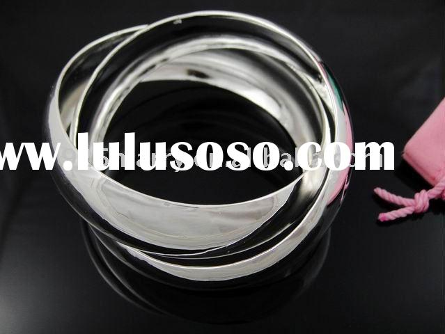 TBN251 wholesale 925 sterling silver bangle,fashion jewelry,925 silver bangle,silver bangle&brac