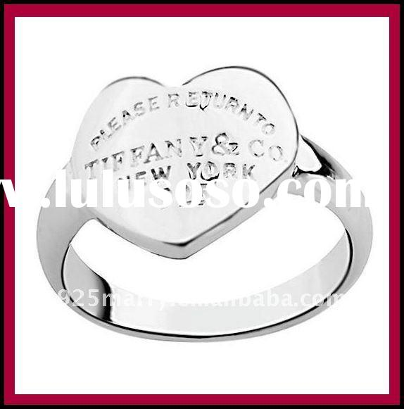 TR092 925 Sterling Silver Ring,925 Silver Heart Rings Jewellery,Wholesale 925 Silver Fashion Jewelry