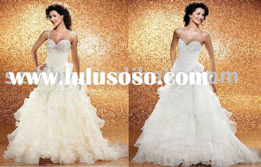 TY10577&2011 new style unique design high-quality low price wedding dress