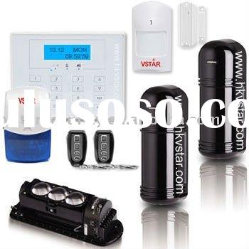 Three Beam Wired Wireless Perimeter Alarm System anti theft home security system with alarm