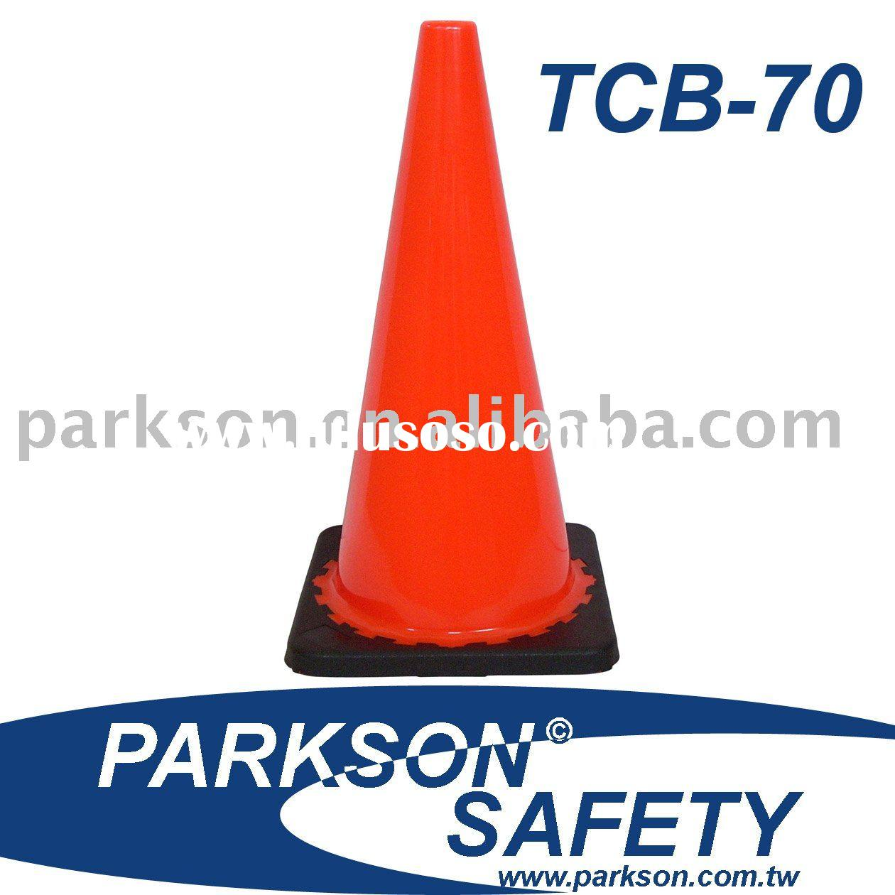 Traffic Cone TCB-70 For Road Safety Use (Reflective Tape Available)