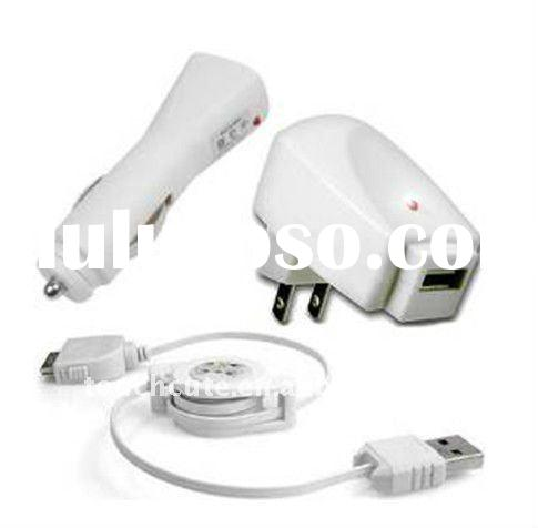 USA3-in-1 charger kit for iPhone 4