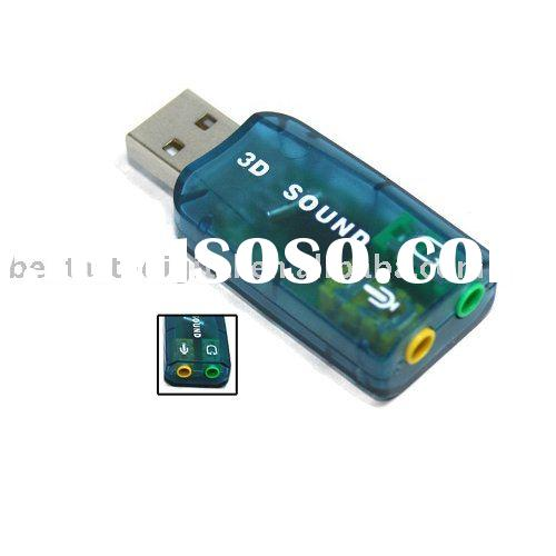 USB 2.0 Mic Speaker 5.1 Audio Sound Card Adapter