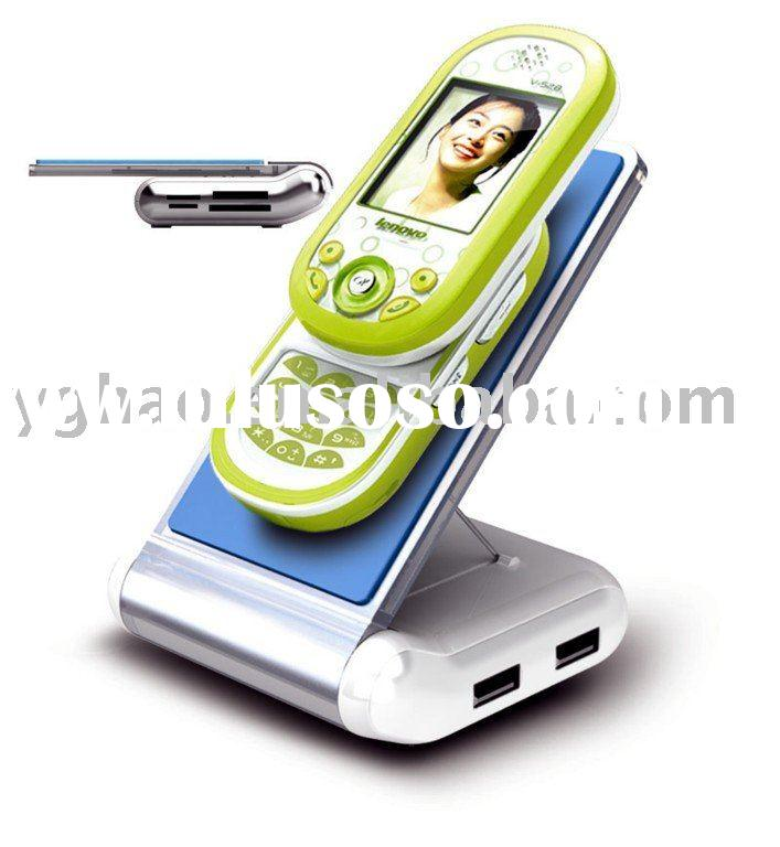 USB hub mobile phone holder
