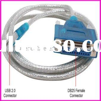 USB to DB25 Female Parallel Converter Adapter Printer Cable