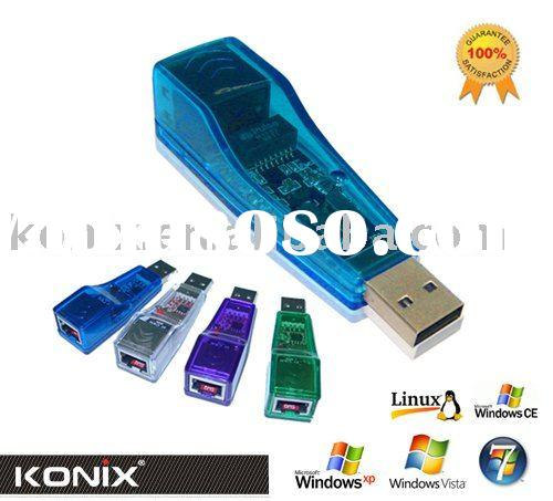 USB to LAN RJ45 ETHERNET 10/100 NETWORK ADAPTER CARD (Model:W206)