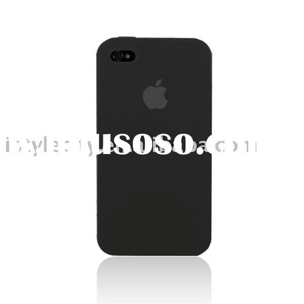 Ultra Thin Silicone Skin Case for Apple iPhone 4 (Black)