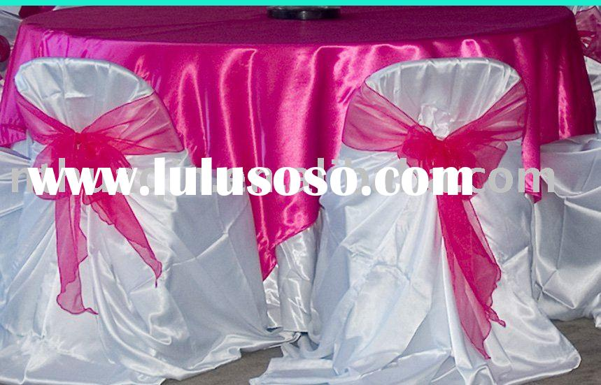 Universal satin chair covers,bag chair covers, self-tie chair cover,satin chair cover,wedding chair