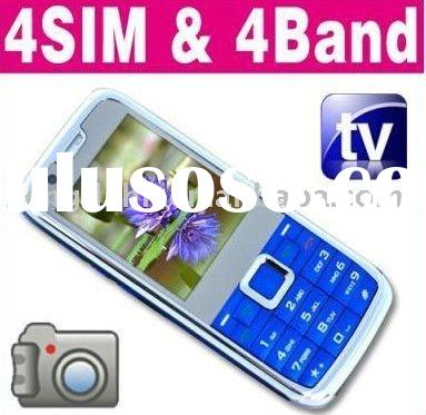 Unlocked 4 SIM Quad Band TV Mini Phone Mobile Cell E71