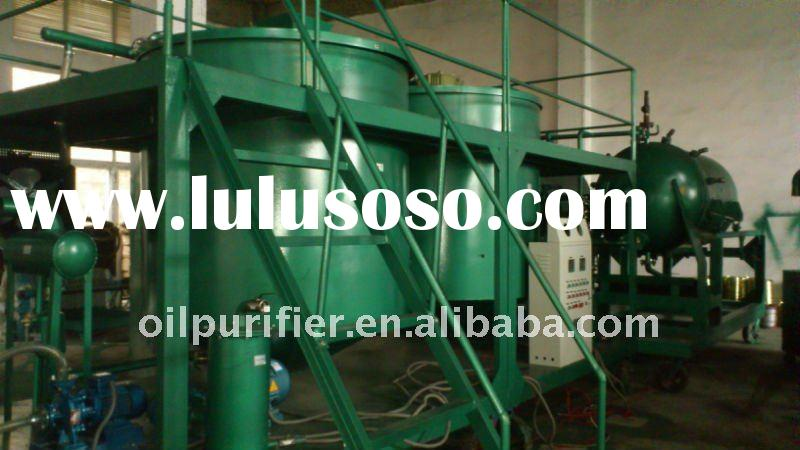 Used engine oil /motor oil/ car oil regeneration purification system / Black oil recycling machine