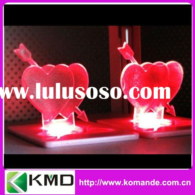 Valentine's day gift Heart bulb Card Light as lover gift