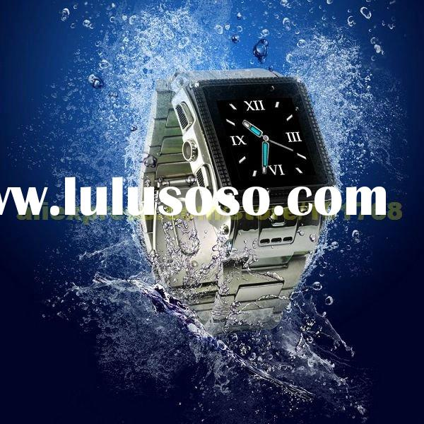 W818 Smart Phone: Stainless Steel Waterproof Watch Mobile Phone, Dual Sim, Dual Standby, Water Proof