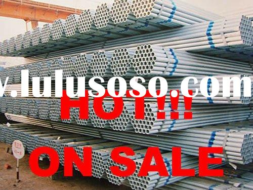 Welded galvanized steel pipe low pressure Q195+Q235.