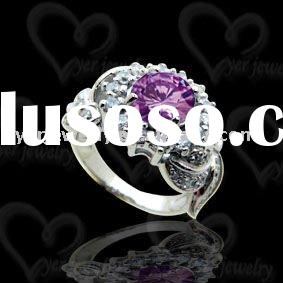 Wholesale fashion hammered 925 sterling silver puzzle rings jewelry