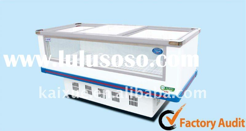 Window freezer/Glass island freezer for sea food and frozen food