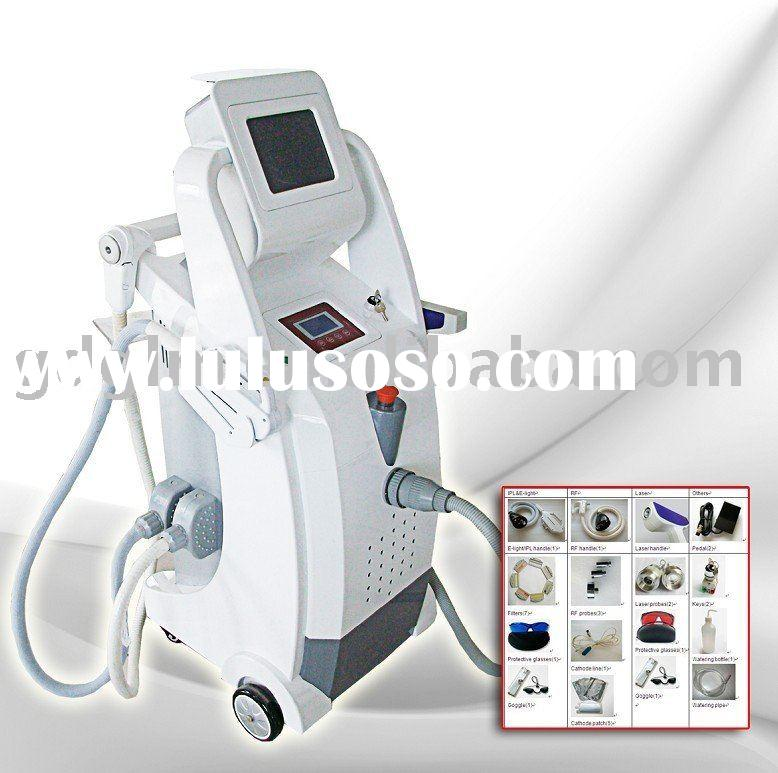 YAG Laser Tattoo Removal System (Q Switch Nd) + RF + E-light Esthetic Equipment